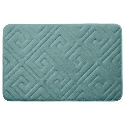 Caicos Premium Micro Plush Memory Foam Bath Mat Color: Marine Blue, Size: 20 L x 32 W
