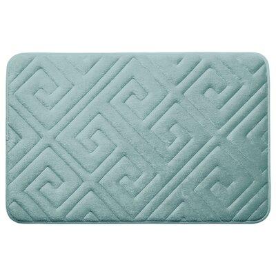 Caicos Premium Micro Plush Memory Foam Bath Mat Color: Aqua, Size: 20 L x 32 W