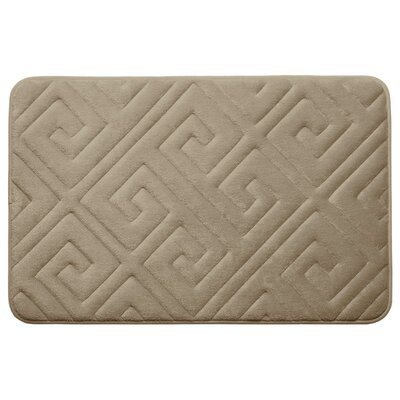 Caicos Premium Micro Plush Memory Foam Bath Mat Color: Linen, Size: 20 L x 32 W