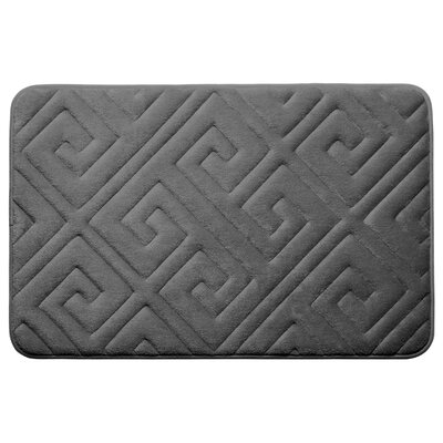 Caicos Premium Micro Plush Memory Foam Bath Mat Color: Dark Gray, Size: 20 L x 32 W