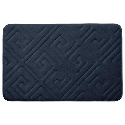 Caicos Premium Micro Plush Memory Foam Bath Mat Color: Indigo, Size: 20 L x 32 W