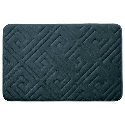 Caicos Premium Micro Plush Memory Foam Bath Mat Color: Slate Teal, Size: 20 L x 32 W