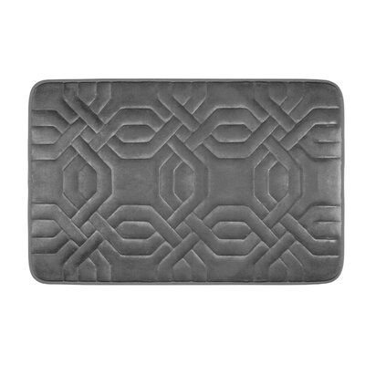 Bath Studio Chain Ring Premium Micro Plush Memory Foam Bath Mat - Color: Dark Grey Size: 32' x 20