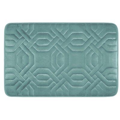 Westerberg Micro Plush Memory Foam Bath Mat Color: Marine Blue, Size: 24 x 17