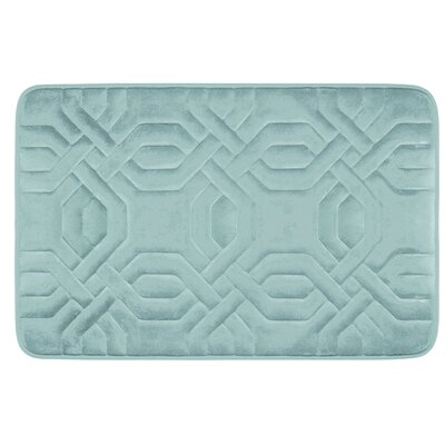 Chain Ring Premium Micro Plush Memory Foam Bath Mat Color: Linen, Size: 24 x 17