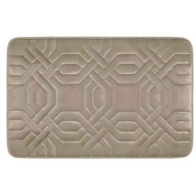 Westerberg Micro Plush Memory Foam Bath Mat Color: Linen, Size: 24 x 17