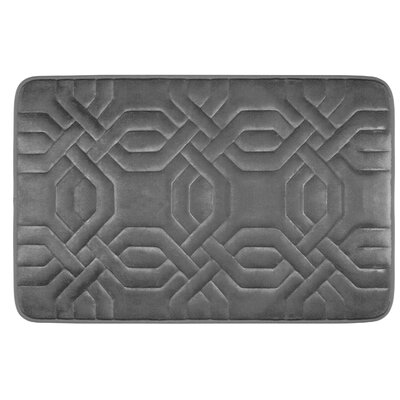 Westerberg Micro Plush Memory Foam Bath Mat Color: Dark Grey, Size: 24 x 17