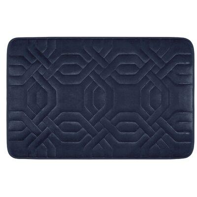 Westerberg Micro Plush Memory Foam Bath Mat Color: Indigo, Size: 24 x 17