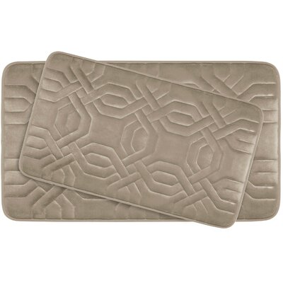 Westinghouse Large Premium Micro Plush Memory Foam Bath Mat Set Color: Linen