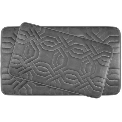 Ernie Large Premium Micro Plush Memory Foam Bath Mat Set Color: Dark Grey