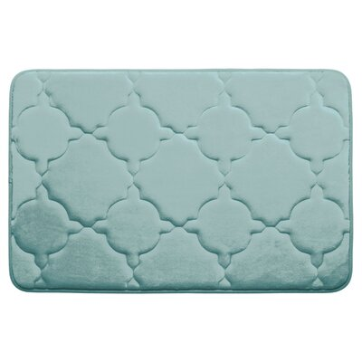 Dorothy Premium Micro Plush Memory Foam Bath Mat Color: Dark Grey, Size: 24 x 17