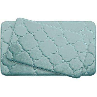 Dorothy Large Premium Micro Plush Memory Foam Bath Mat Set Color: Aqua