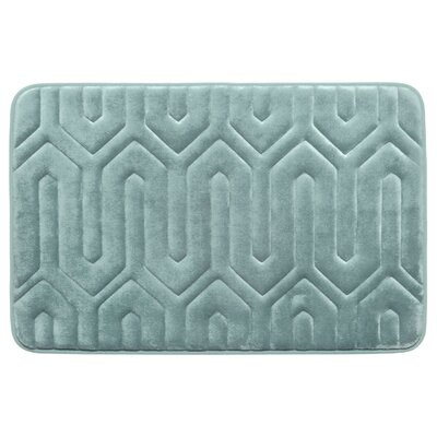 Thea Premium Micro Plush Memory Foam Bath Mat Color: Light Grey, Size: 24 x 17