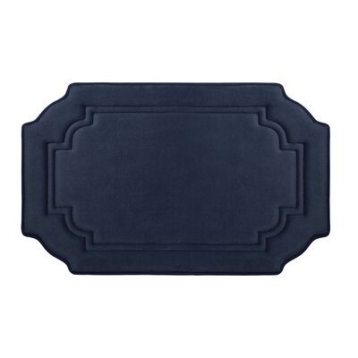 Calypso Premium Micro Plush Memory Foam Bath Mat Color: Dark Grey, Size: 24 x 17