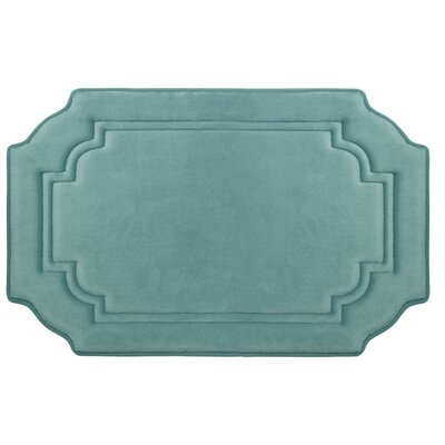 Calypso Premium Micro Plush Memory Foam Bath Mat Color: Marine Blue, Size: 32 x 20