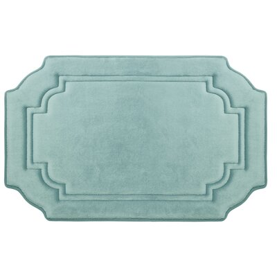 Calypso Premium Micro Plush Memory Foam Bath Mat Color: Aqua, Size: 32 x 20