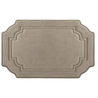Calypso Premium Micro Plush Memory Foam Bath Mat Color: Linen, Size: 32 x 20