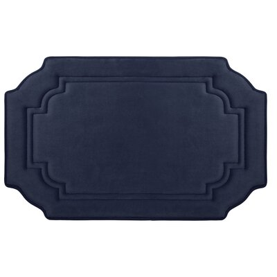 Calypso Premium Micro Plush Memory Foam Bath Mat Color: Indigo, Size: 32 x 20