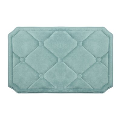 Gertie Premium Micro Plush Memory Foam Bath Mat Color: Dark Grey, Size: 24 x 17