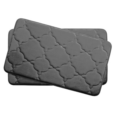 Dorothy Small Premium Micro Plush Memory Foam Bath Mat Set Color: Dark Grey