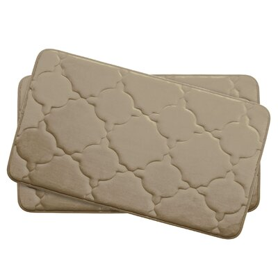 Dorothy Small 2 Piece Premium Micro Plush Memory Foam Bath Mat Set Color: Linen