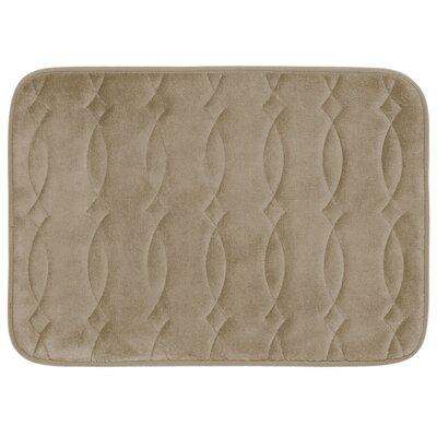 Grecian Plush Memory Foam Bath Mat Color: Linen, Size: 20 W x 34 L