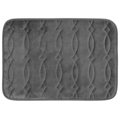 Grecian Plush Memory Foam Bath Mat Color: Dark Grey, Size: 20 W x 34 L