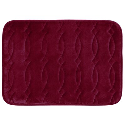 Grecian Plush Memory Foam Bath Mat Color: Barn Red, Size: 20 W x 34 L