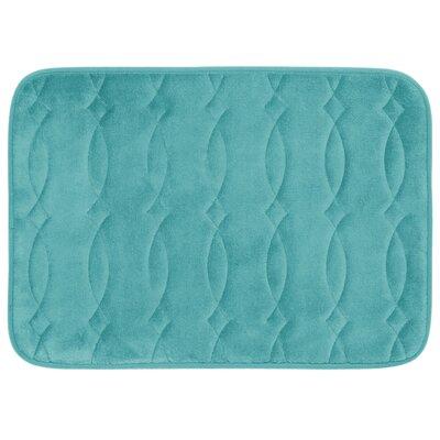 Grecian Plush Memory Foam Bath Mat Color: Turquoise, Size: 20 W x 34 L