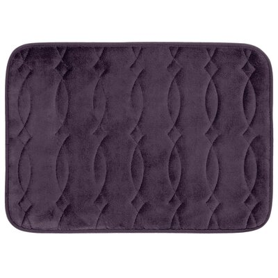 Grecian Plush Memory Foam Bath Mat Color: Plum, Size: 20 W x 34 L