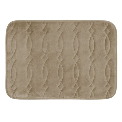 Grecian Plush Memory Foam Bath Mat Color: Marine Blue, Size: 17 W x 24 L
