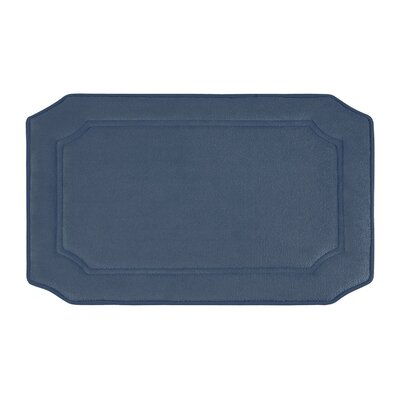 Walden Premium Micro Plush Memory Foam Bath Mat Size: 20 W x 32 L, Color: Dusty Blue