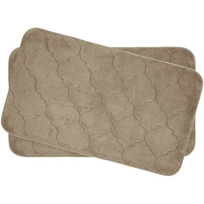 Faymore Small Plush Memory Foam Bath Mat Set Color: Linen