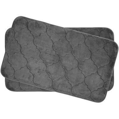 Faymore Small Plush Memory Foam Bath Mat Set Color: Dark Grey