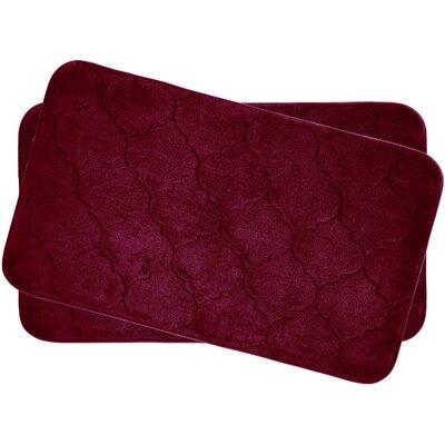 Bath Studio Faymore Small Plush Memory Foam Bath Mat (Set of 2) - Color: Barn Red
