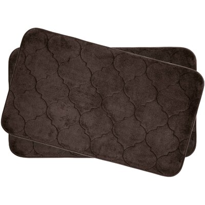 Faymore Small Plush Memory Foam Bath Mat Set Color: Espresso