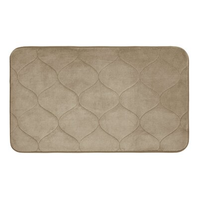 Palace Micro Plush Memory Foam Bath Mat Color: Linen, Size: 20 H x 34 W