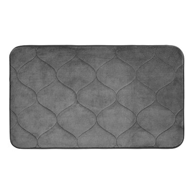 Leander Micro Plush Memory Foam Bath Mat Color: Dark Grey, Size: 17 H x 24 W