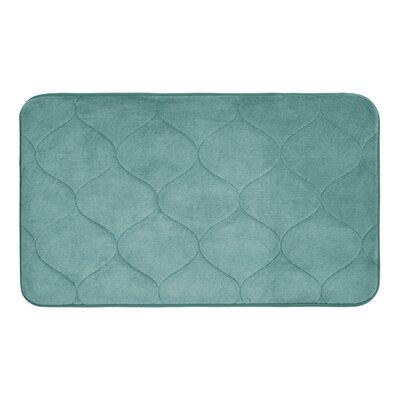 Palace Micro Plush Memory Foam Bath Mat Color: Marine Blue, Size: 20 H x 34 W