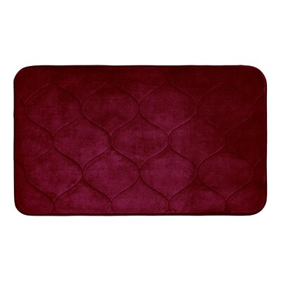 Leander Micro Plush Memory Foam Bath Mat Color: Barn Red, Size: 17 H x 24 W