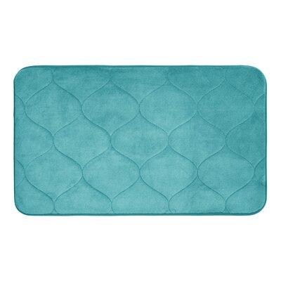 Leander Micro Plush Memory Foam Bath Mat Color: Turquoise, Size: 20 H x 34 W