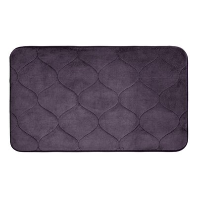 Leander Micro Plush Memory Foam Bath Mat Color: Plum, Size: 17 H x 24 W