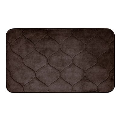 Leander Micro Plush Memory Foam Bath Mat Color: Espresso, Size: 17 H x 24 W