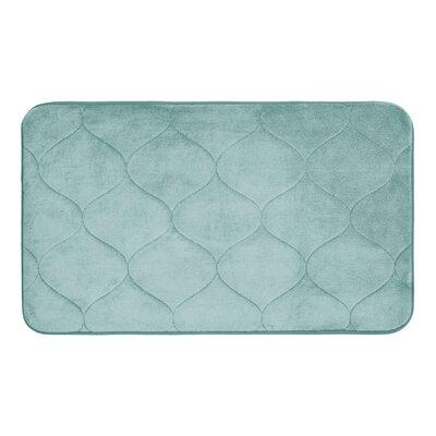 Leander Micro Plush Memory Foam Bath Mat Color: Aqua, Size: 20 H x 34 W