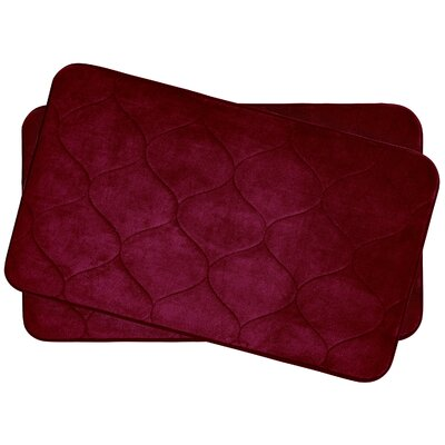 Leander Small 2 Piece Plush Memory Foam Bath Mat Set Color: Barn