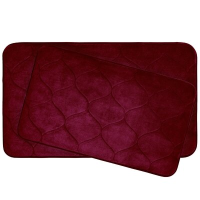 Leander 2 Piece Plush Memory Foam Bath Mat Set Color: Barn