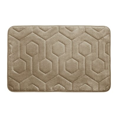 Bath Studio Hexagon Micro Plush Memory Foam Bath Mat - Color: Linen