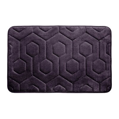 Micro Plush Memory Foam Bath Rug Color: Plum
