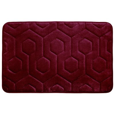 Micro Plush Memory Foam Bath Rug Color: Barn Red