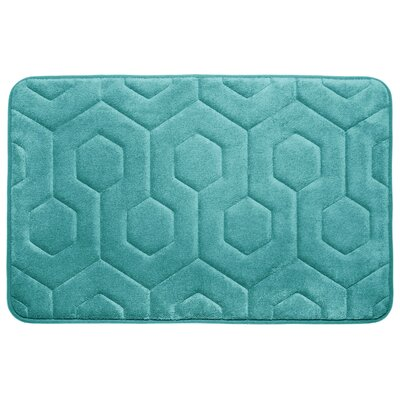 Micro Plush Memory Foam Bath Rug Color: Turquoise